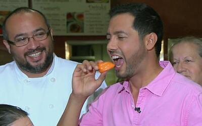 ¿Quién ganó la competencia de comer chile habanero?