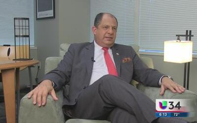 El presidente de Costa Rica de visita en Atlanta