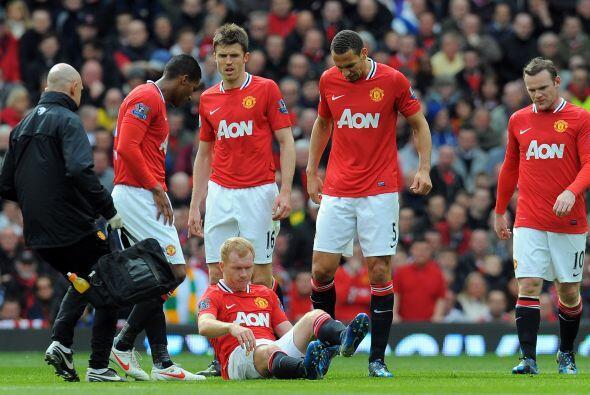 Los jugadores de Old Trafford volvieron al terreno de juego con la inten...