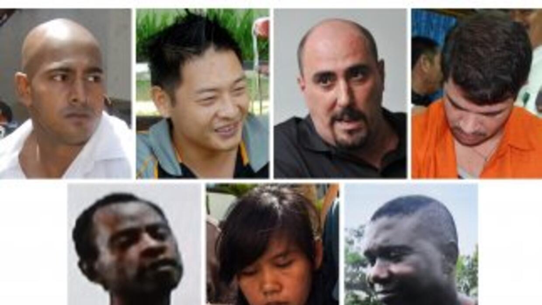 Imagen de siete de los condenados a muerte.