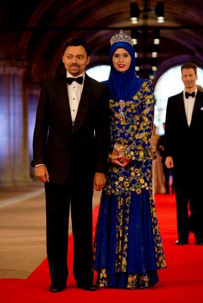 En nombre de la casa real de Brunéi, asistieron el Príncipe Al-Muhtadee...