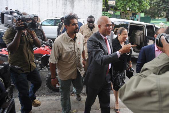 En la primera vuelta de noviembre, Martelly quedó fuera de la competenci...