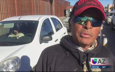 Vendedor Ambulante en Agua Prieta, Sonora.