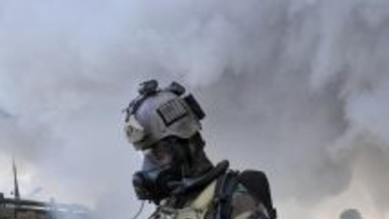 Según fuentes diplomáticas, las armas químicas constan principalmente de...