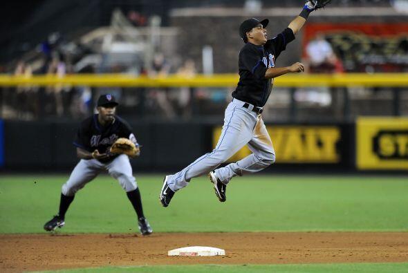 2B. Rubén Tejada. Mets de Nueva York. El panameño bateó para .471 en 17...