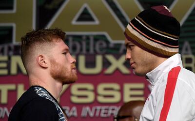 Los boxeadores 'Canelo' Álvarez y Julio César Chávez Jr. se encuentran e...