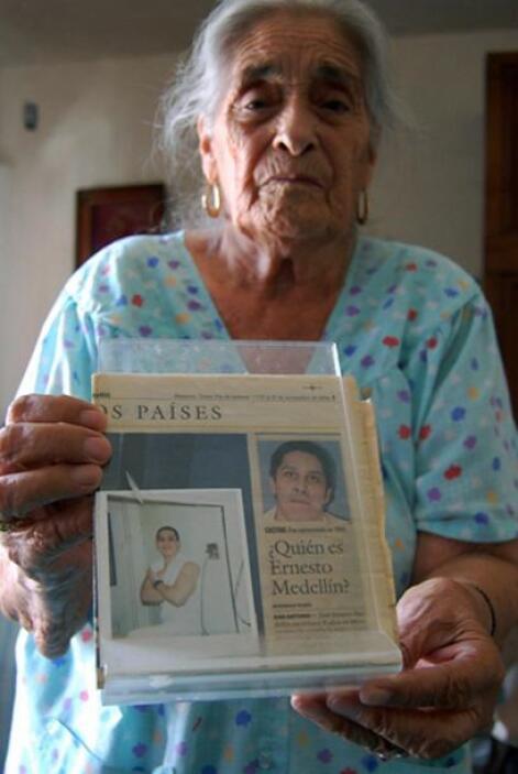 En la fotografía aparece Eleuteria Armendariz, abuela de José Ernesto Me...
