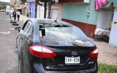 Unvehículo en Ciudad de México, averiado el 28 de julio de 2015 por pre...