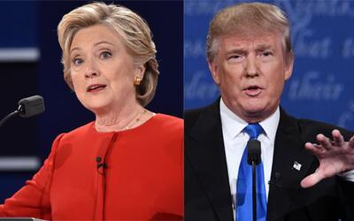 Hillary Clinton y Donald Trump en el primer debate presidencial.