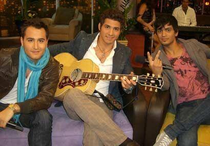 Aquí con el resto del grupo: Julio Ramírez y Gilberto 'Bibi' Marín.