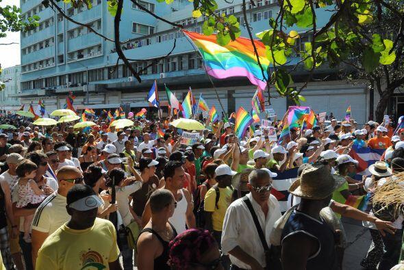 En el evento no sólo participaron gente homosexual sino diversos...