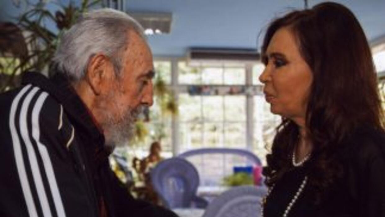 Fidel Castro recibió a Cristina Fernández en Cuba.