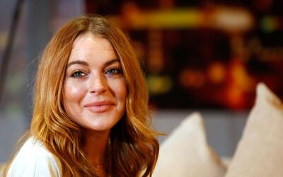Lohan en una presentación de 'Speed The Plow' en Londres.