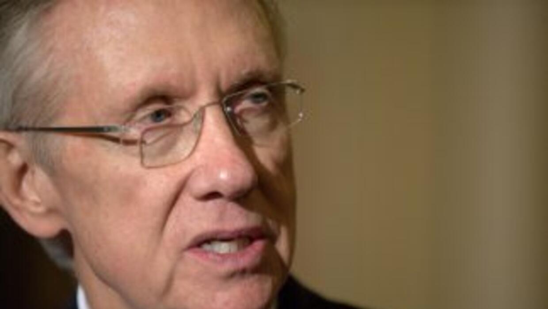 El Senador Harry Reid (Nevada), líder de la mayoría demócrata, fue reele...