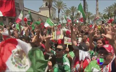 La reacción y celebración de los mexicanos en Los Ángeles
