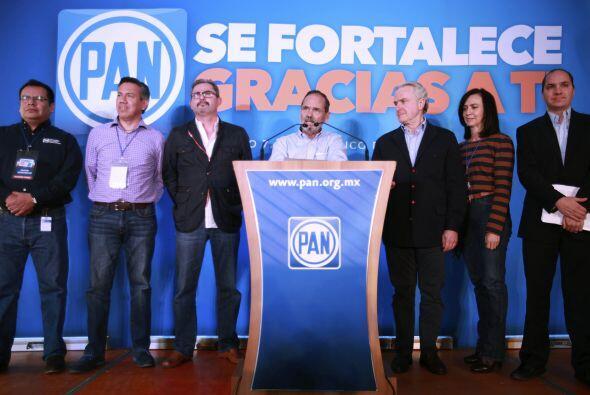 El presidente del Partido Acción Nacional, Gustavo Madero, agradeció a l...