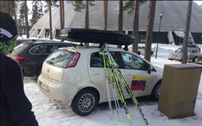 Esquipo venezolano en el Mundial de Esquí en Finlandia