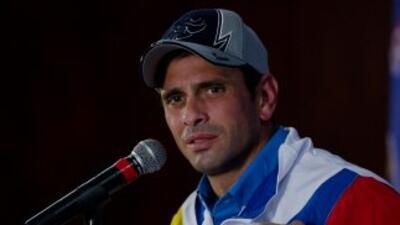 El ex candidato a la Presidencia de Venezuela, Henrique Capriles.