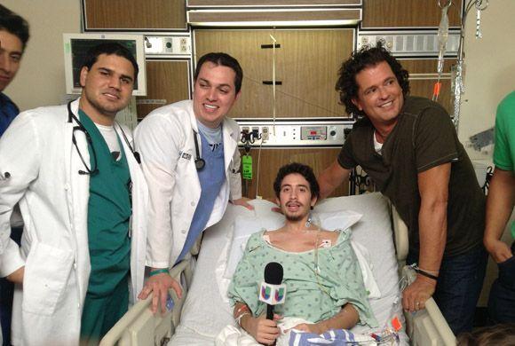 Los médicos accedieron a que el cantante llegara junto a Danny para cump...