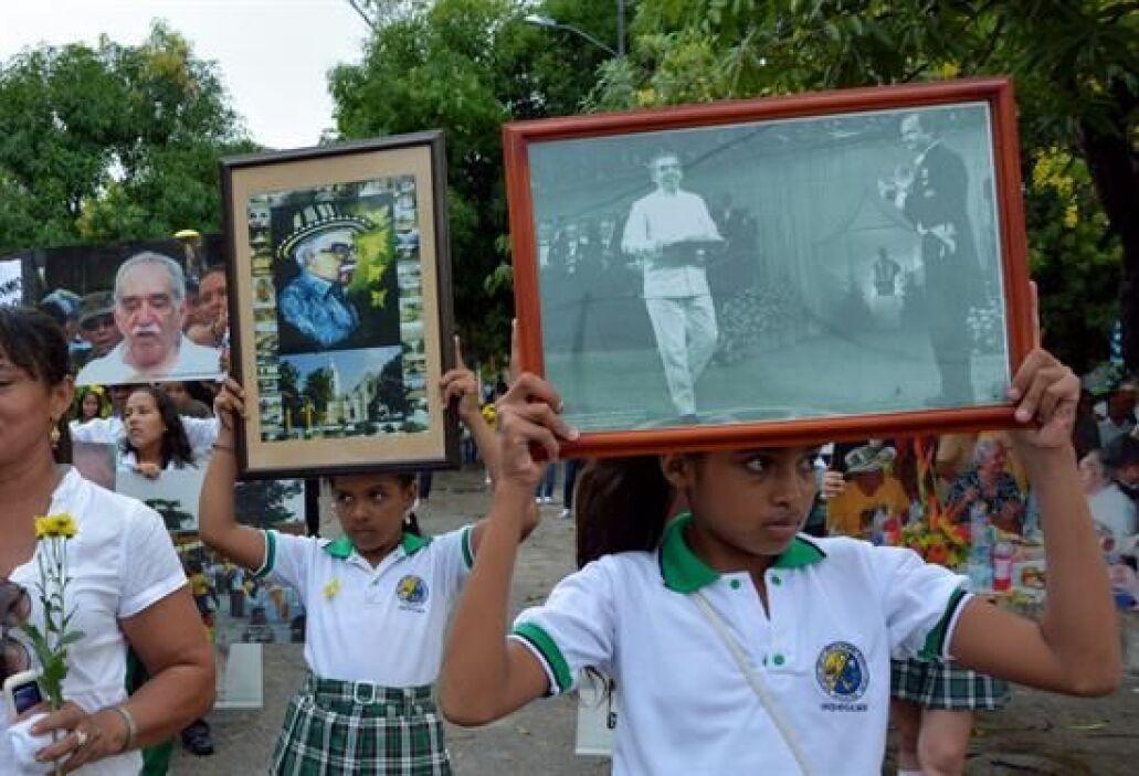 La despedida al escritor en Aracataca transcurrió entre la Casa Museo Ga...