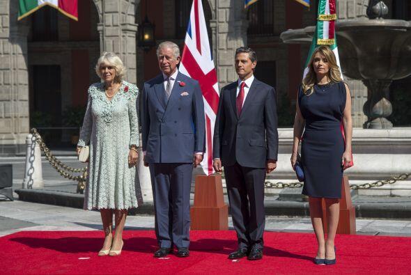 La duquesa de Cornwall, Carlos de Gales, Enrique Peña Nieto y Angélica R...