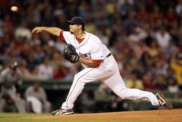 Josh Beckett fue el abridor de la novena bostoniana.
