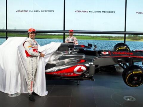 La escudería McLaren de Fórmula 1 desveló en su cen...