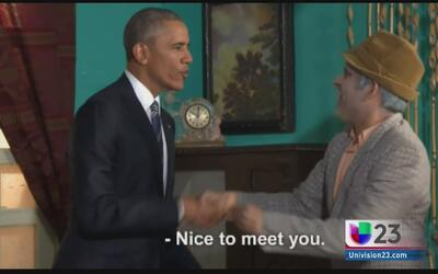 Obama aparece en el programa de Pánfilo en La Habana
