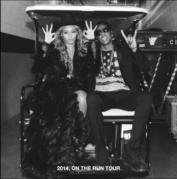 Jay Z acompaña a Beyoncé durante su exitosa gira de 2014.
