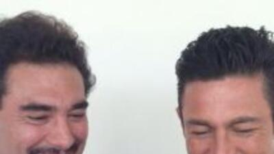 Este par de galanes mostraron esta imagen donde los vemos muy sonrientes...