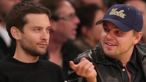 Tobey Maguire de fiesta en fiesta con Leonardo DiCaprio