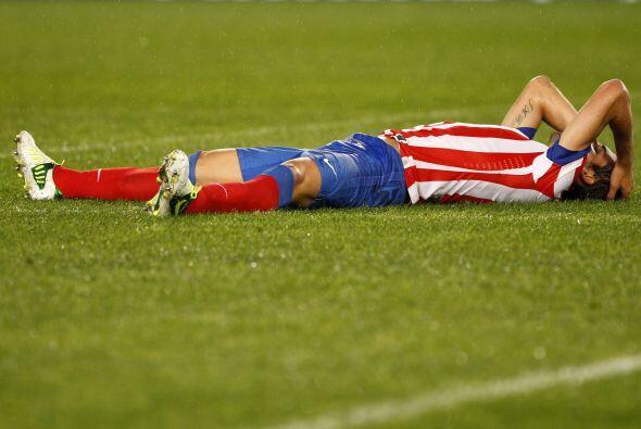 Pero Atlético de Madrid falló algunas opciones claras de gol.