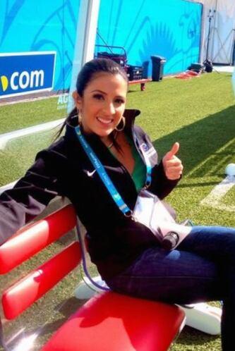 Maity tuvo asiento de lujo para la Inauguración del Mundial.
