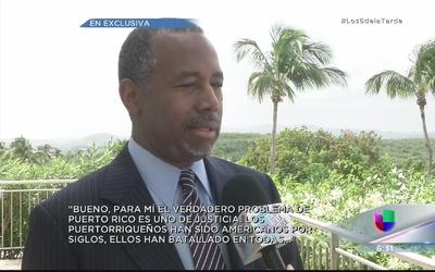 """Ben Carson: """"El issue de Puerto Rico, es de igualdad"""""""