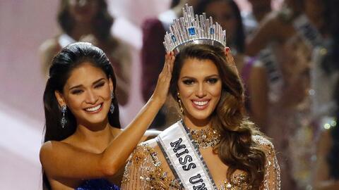 Miss Francia Iris Mittenaere es coronada como Miss Universo 2016 por Mis...