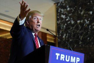 El aspirante a la nominación republicana Donald Trump.