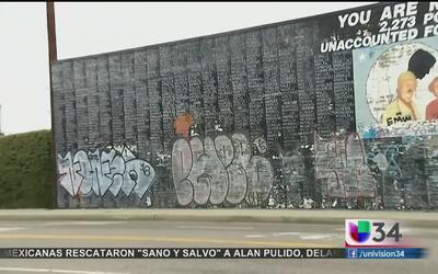 Vandalizan muro dedicado a los veteranos de Vietnam