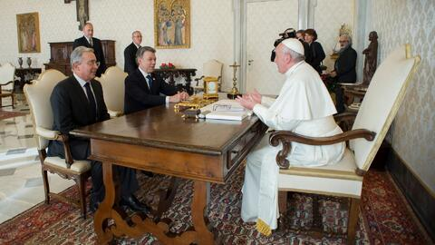 Reunión en El Vaticano entre Santos y Uribe no rindió los frutos esperados