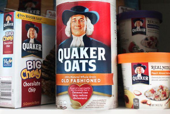 El empaque de la avena Quaker tiene fama mundial por su fortaleza y el u...