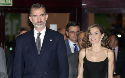 Letizia y Felipe en un concierto en Oviedo.