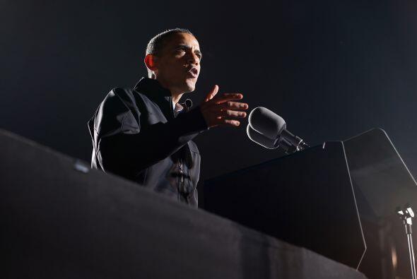 Hoy en el día de la elección, Obama intentó relajar...