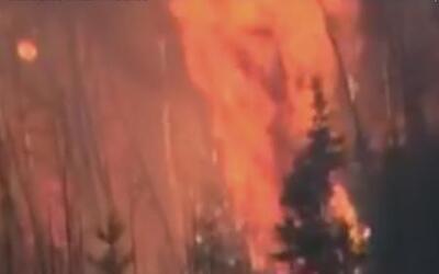 Impactantes imágenes del incendio en Canadá