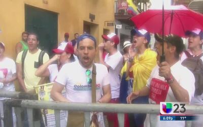 Realizan protestas por el acuerdo de paz en Colombia