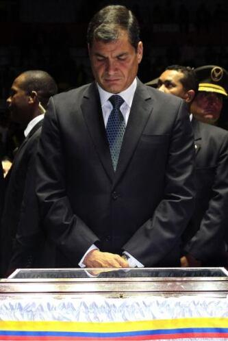 """""""Hasta siempre, eterno goleador"""", dijo Correa en un discurso frente al f..."""
