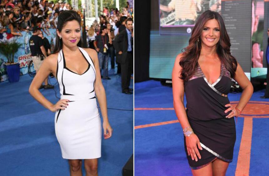 Así fue la moda retro del talento Univision.