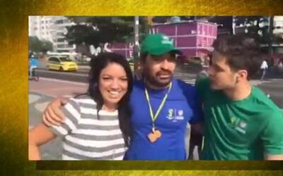 ¡Sorpresa! Llegó su esposa a Brasil sin avisar