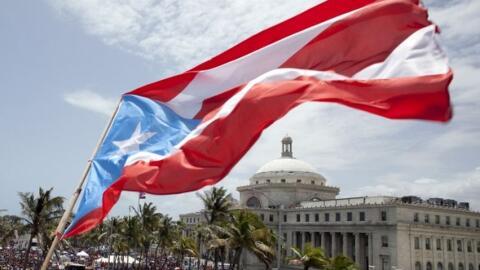Bandera Puerto Rico Capitolio