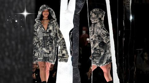 Rihanna en el cierre de su desfile de Puma en el pasado New York Fashion...