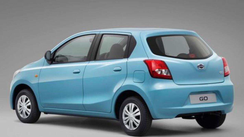 El Datsun GO está pensado en ofrecer transporte a las familias en India...