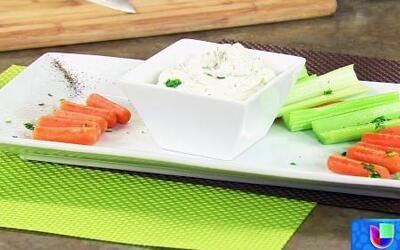 El Chef Tutti preparó un saludable dip de espinaca
